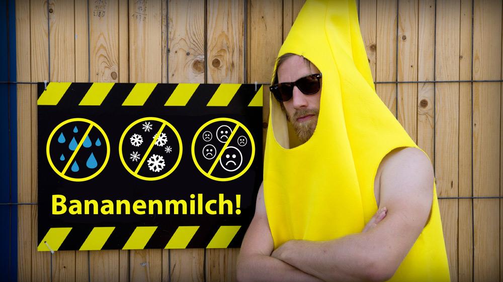 Bananen Security vor Sicherheitshinweis
